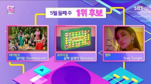 사진=SBS '인기가요' 방송 화면.