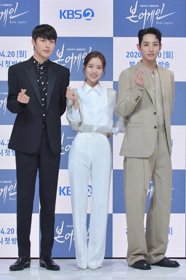 '본 어게인' 주연배우 장기용(왼쪽부터), 진세연, 이수혁/ 사진=KBS 제공