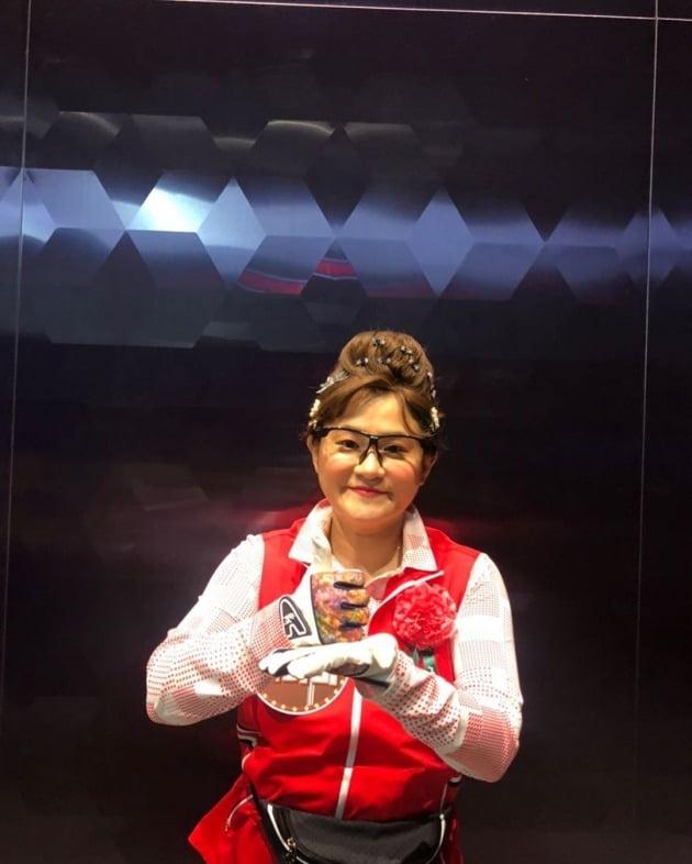 둘째이모 김다비(김신영)가 '덕분에 챌린지'에 참여했다. / 사진=김신영 인스타그램