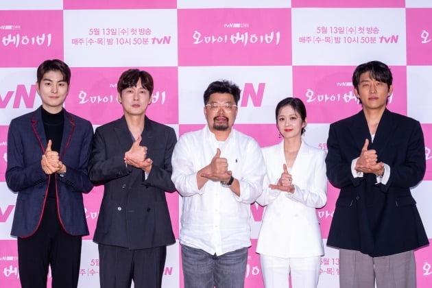 '오 마이 베이비' 배우 정건호(왼쪽부터), 박병은, 남기훈 감독, 장나라, 고준/ 사진=tvN 제공
