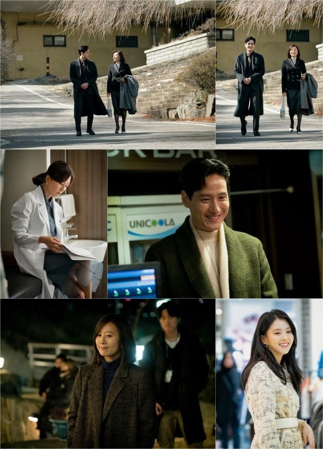 '부부의 세계' 비하인드컷/ 사진=JTBC 제공