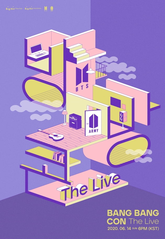 그룹 방탄소년단의 '방방콘 The Live' 포스터 / 사진제공=빅히트엔터테인먼트