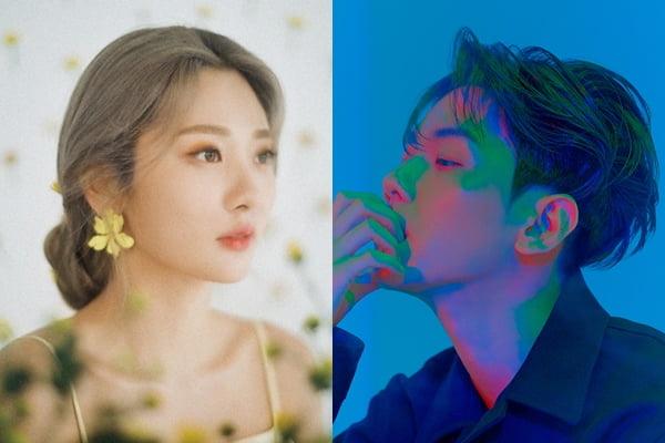 볼빨간사춘기 안지영(왼쪽), 엑소의 백현/ 사진제공=쇼파르 뮤직, SM엔터테인먼트