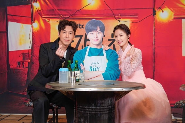 '쌍갑포차' 배우 최원영(왼쪽부터), 육성재, 황정음/사진=JTBC 제공
