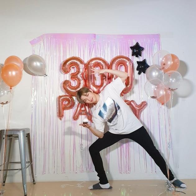 가수 강다니엘의 데뷔 300일 기념 파티/사진= 강다니엘 공식 트위터