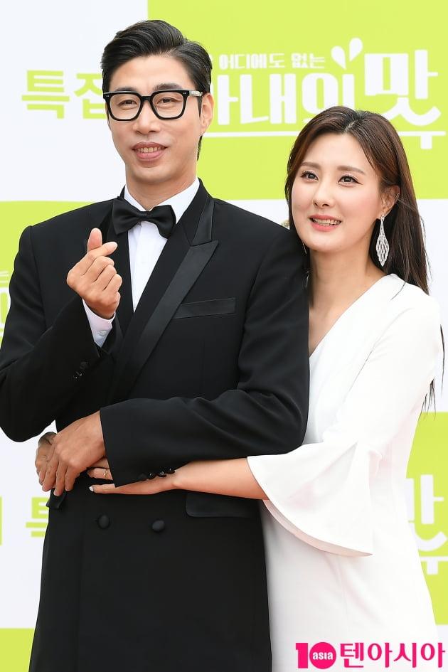 [TEN 포토] 김세진-진혜지 '선남선녀가 따로 없네'