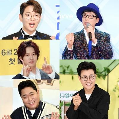 '56회 백상예술대상' 예능상 후보 5인/ 사진=텐아시아DB