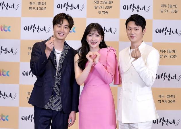 '야식남녀' 주연배우 정일우, 강지영, 이학주/ 사진=JTBC 제공