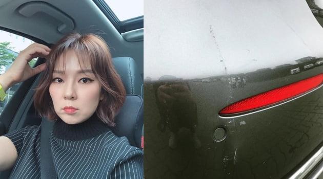 곽정은 사고 차량./ 사진=인스타그램