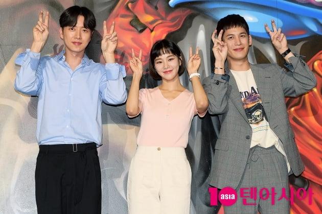 [TEN 포토] '꼰대인턴' 박해진X한지은X박기웅, '깜찍하게~'