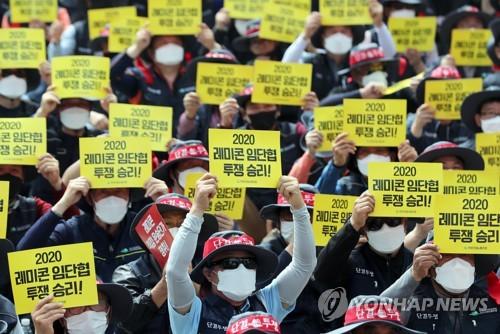 부산·경남 레미콘 노사 파업 후 첫 협상…부산시 중재