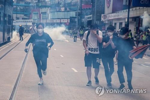 """""""홍콩보안법, 인권·민주주의 퇴보"""" 홍대입구서 집회"""