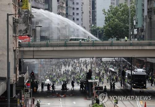 홍콩보안법 이어 '국가법' 추진에 27일 홍콩서 도심 시위