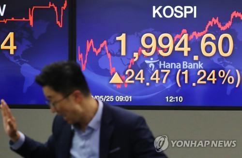 미중 갈등 격화에도 코스피 상승 마감…1,990선 회복(종합)