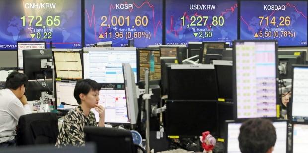 21일 코스피는 미국 경제 회복 기대로 두 달 만에 2000선을 회복했다./사진=연합뉴스