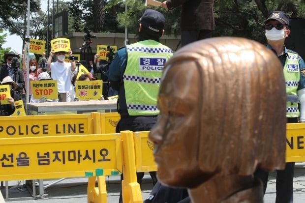 정의연 해체 및 윤미향 당선인 규탄 집회 (사진=연합뉴스)