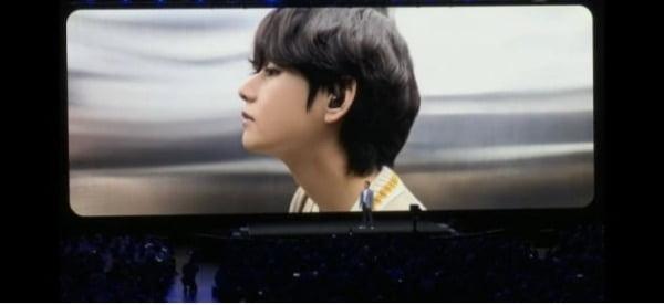 '삼성 2020 갤럭시 언팩'에 등장한 방탄소년단 뷔/사진=트위터 캡처