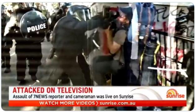 """美 시위 경찰 대응, 외교문제 번지나…호주 """"기자 폭행사건 조사"""""""