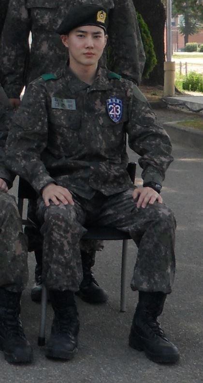 엑소 수호 훈련소 근황 /사진=육군훈련소 홈페이지 캡처