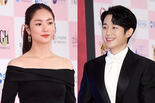 '대종상' 신인상을 수상한 전여빈과 정해인 /사진=최혁 기자