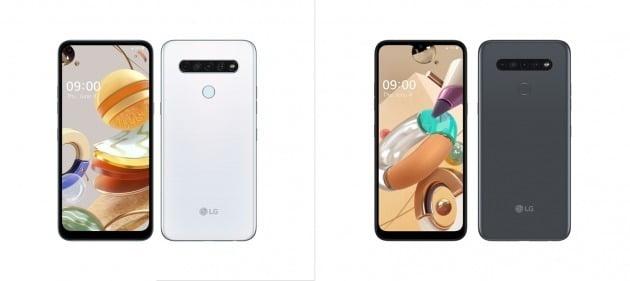 LG전자가 현지시간 4일 캐나다에 출시하는 실속형 폰 'LG K61'(왼쪽)과 'LG K41S'. / 사진=LG전자 제공