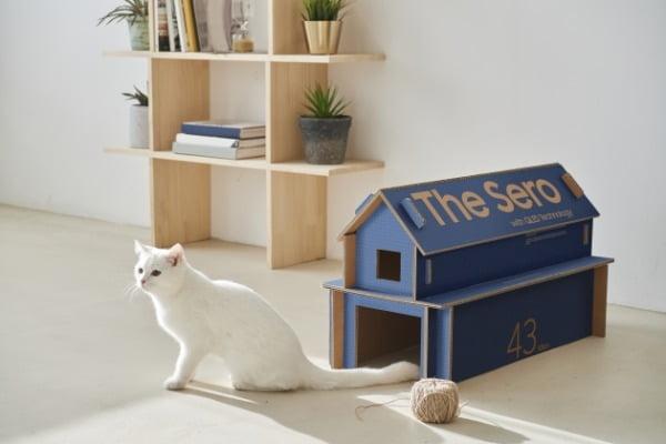 삼성 라이프스타일 TV 에코 패키지 고양이집/사진제공=삼성전자