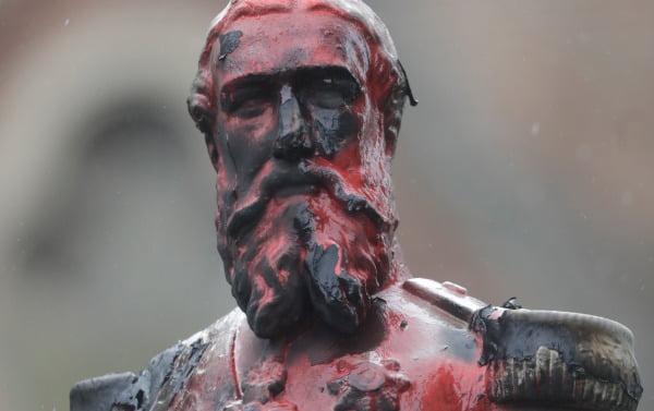 벨기에 국왕 레오폴드 2세(1835-1909)의 동상 [사진=EPA 연합뉴스]