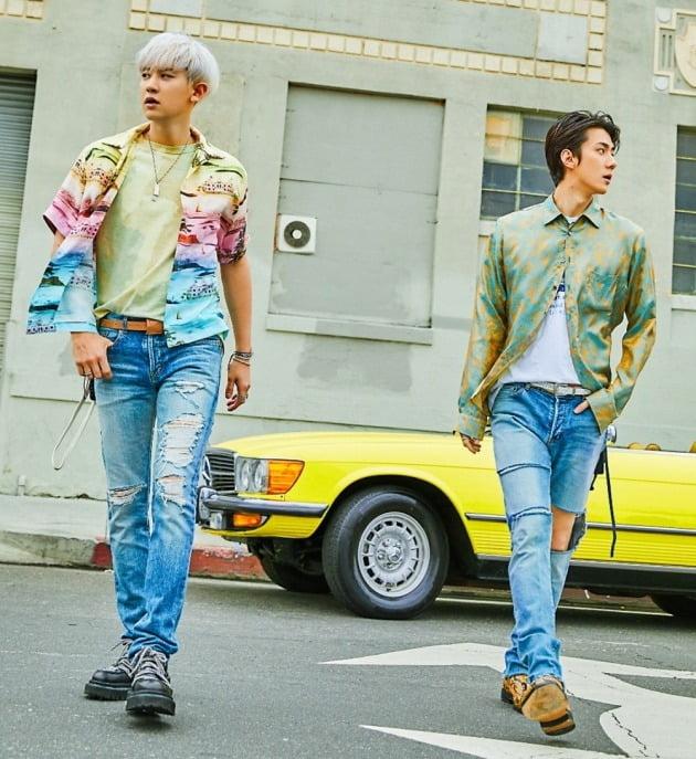 오비맥주의 대표 브랜드 카스가 SM엔터테인먼트의 아티스트 엑소 유닛 세훈&찬열(이하 EXO-SC) 여름 캠페인 모델로 기용했다고 15일 밝혔다. 사진=오비맥주 제공