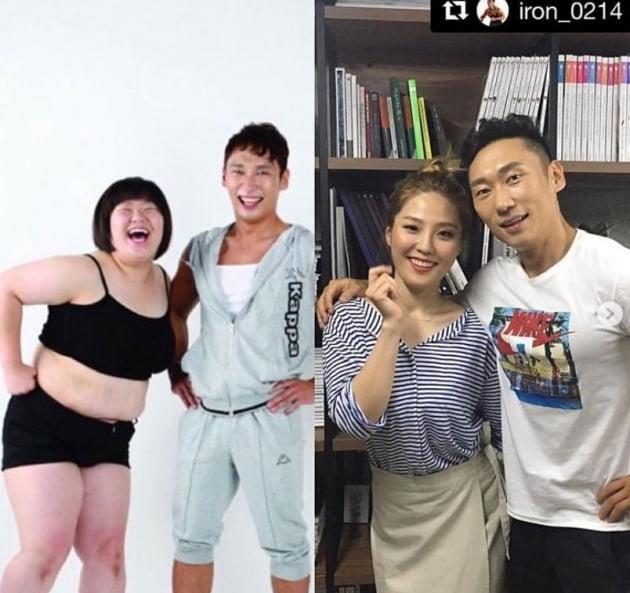 '헬스걸' 이승윤과 함께한 권미진/사진=권미진 인스타그램
