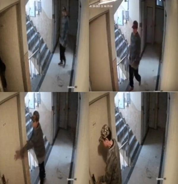 지난해 5월 서울 관악구 신림역 부근에서 귀가 중인 20대 여성 피해자를 뒤따라가 피해자의 원룸 침입을 시도한 조 모 씨의 모습. /사진=유튜브 영상 캡처