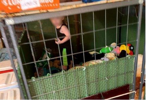 개 사육장에 방치된 18개월 아기…배설물·벌레·뱀·쥐 '우글'
