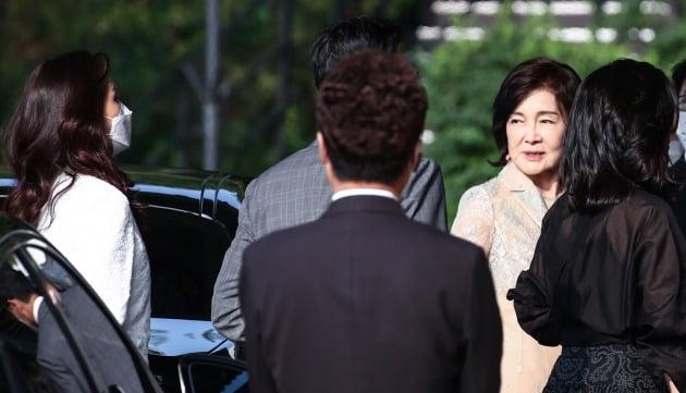 약혼식 참석 하는 삼성가(家) 사람들 [사진=연합뉴스]