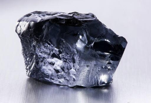 2014년 컬리난 광산에서 채굴된 29.6캐럿짜리 청색 다이아몬드. 연합뉴스