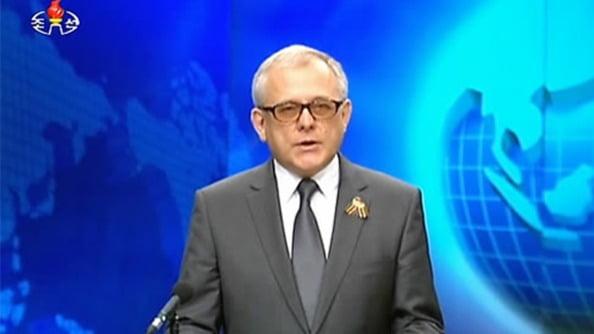 알렉산드르 마체고라 주(駐)북한 러시아 대사 [사진=조선중앙TV캡처]