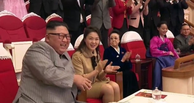 김정은 북한 국방위원장과 리설주 여사 [조선중앙TV 화면 캡처]