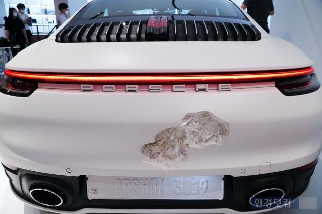 HK영상|사고차 아닙니다, '다니엘 아샴 포르쉐 911 아시아 최초 공개'
