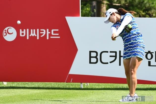 [BC카드·한경 레이디스컵 2020] 김지현, '강한 힘이 느껴지는 스윙'
