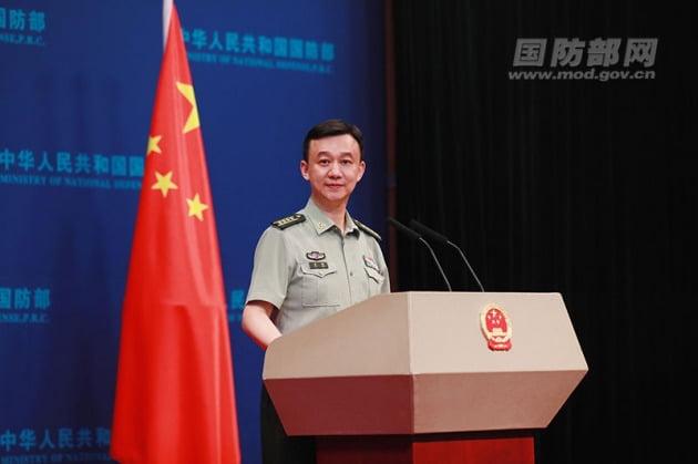 우첸 중국 국방부 대변인. 사진=중국 국방부 홈페이지