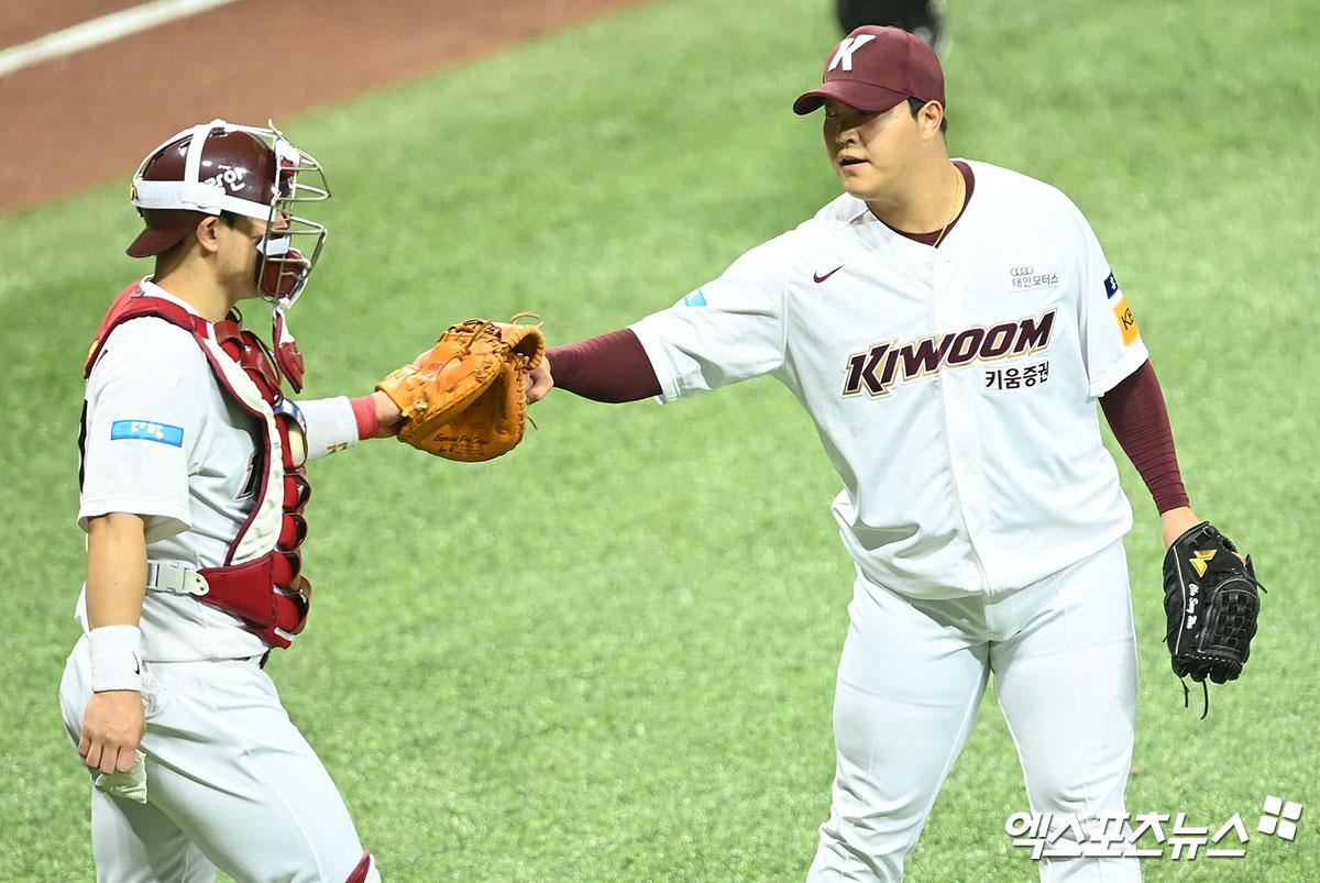 [야구전광판] '강력한 마운드' 키움-LG, 이틀 연속 무실점 승리