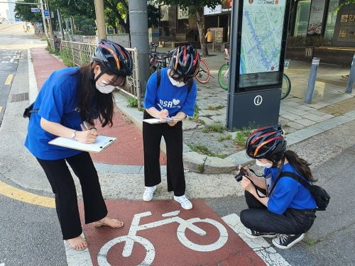 bhc치킨 '해바라기 봉사단',   자전거 도로 안전 점검 봉사활동 펼쳐