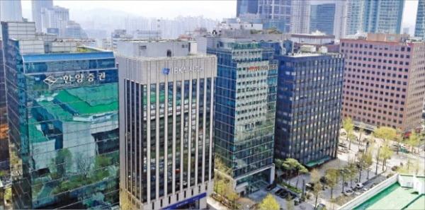 국내 주요 증권사들이 밀집해 있는 서울 영등포구 국제금융로 일대 전경.