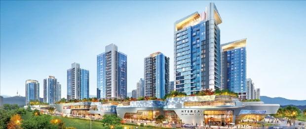 현대건설이 제시한 서울 한남동 한남3구역(디에이치 한남) 재개발 후 모습.  현대건설 제공