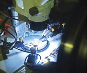 표준연 소재융합측정연구소의 고성능 유기 트랜지스터 개발 모습. /한국표준과학연구원 제공