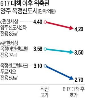 양주 옥정 '미분양 무덤' 벗어나자 규제 폭탄…가격 '뚝'
