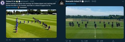 첼시·뉴캐슬도…유럽 축구계 '플로이드 추모' 물결