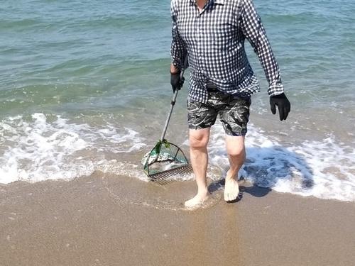 불법 도구로 해변 조개 싹쓸이한 60대 적발