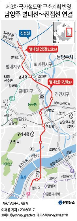 남양주시 '거미줄 철도망' 밑그림…7개 노선 전국 최다