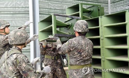 북한, 비무장지대 일대서 대남확성기 재설치…철거 2년만(종합)
