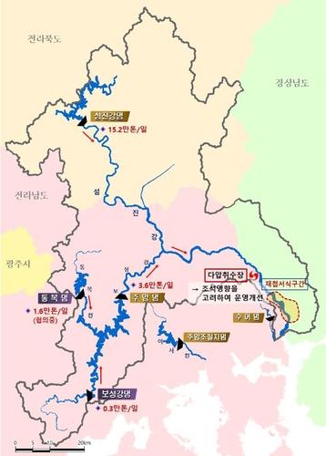섬진강 재첩서식지 '바닷물 유입 피해' 막자…취수시간 조정