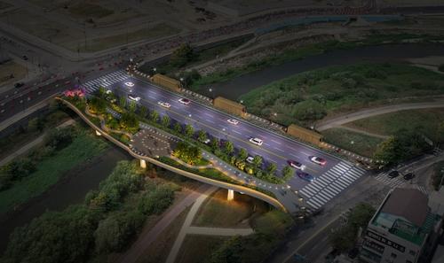 전주 효천지구 교통량 분산…횡단 교량 내년까지 설치